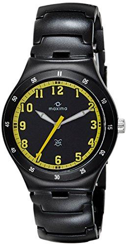 Maxima Aluminium Analog Black Dial Men's Watch - 23795CMGB image