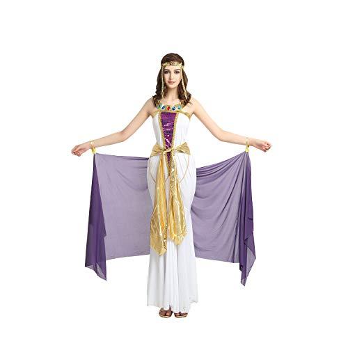 (Elegante purpurrote Kelly Cleopatra Cleo Halloween-Kostüme der Frauen Partei Cosplay Kostüme mit abnehmbarem Garn)