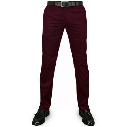 Merc London Sta Press Hose Winston Mod Burgundy - 34