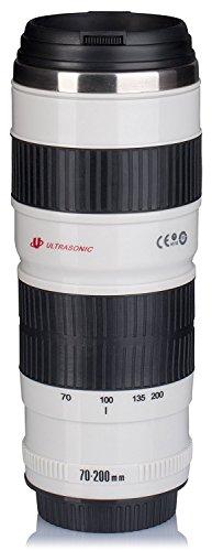 Taza termo Type objetivo Canon 70200taza–Portalápices cámara–adaptout marca francesa...