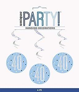 Unique Party- Adornos, Color blue & silver (83799)