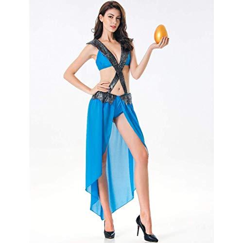 HaoLiao Cosplay Kostüm, SXXS Wiesn Bühnenaufführung einteiliges Kleid Halloween-Kostüm Lady sexy Tanz römische Göttin mit Einem einzigartigen Original-Ring FXXK ()