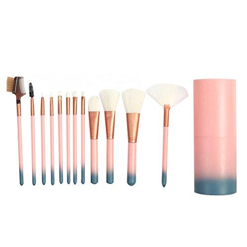12 Pcs Maquillage Pinceau Premium Cosmétiques Professionnels Pinceaux De Maquillage Poudre De Peinture Pinceau Maquillage Pinceau