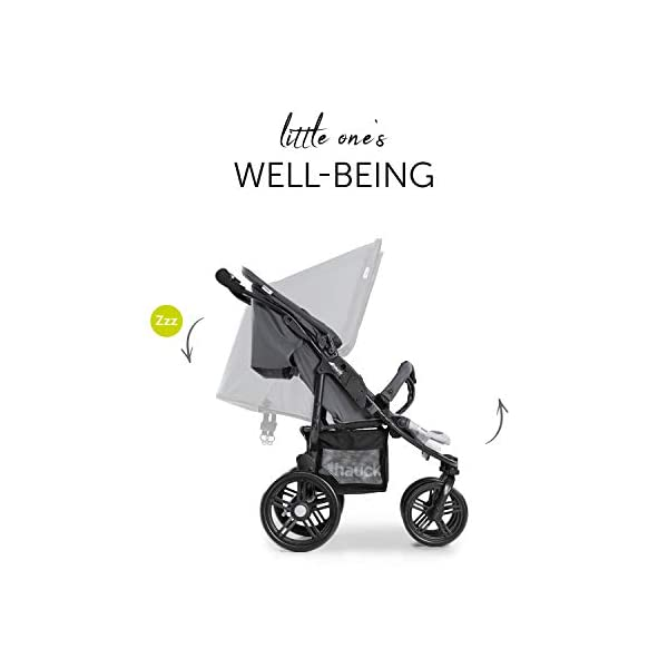 Hauck Roadster Duo SLX Double Pushchair, Grey/Silver, 14 kg Hauck Twin and sibling stroller suitable for two children or new-borns by combining it with the separately available hauck 2 in 1 carrycot, this pushchair holds 2 x 15 kg Fits through doors despite the children sitting side by side, roadster duo slx fits through doors and elevators as it measures 76 cm only Comfy both backrest and footrest come with sun hood, as well as large shopping baskets and are individually adjustable up to lying position; the pushchair is easy to fold away with one hand 5