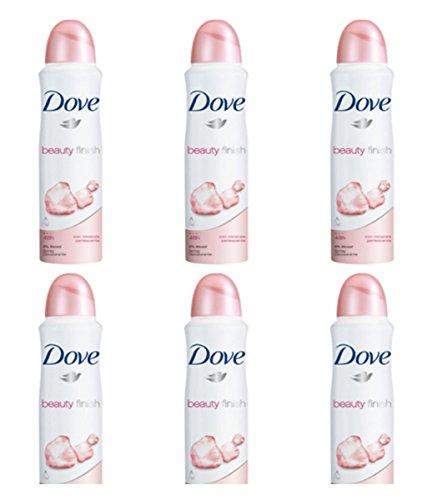 6 X Dove Beauty Finish SPRAY Donna Deodorante Corpo femminile