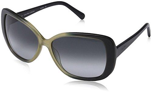 Calvin Klein CK7859S Oval Sonnenbrille, 413 Navy & Sand Gradient