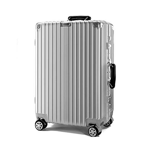 HUANGA HUANGDA valigia per il tempo libero valigia 24 scatola per studenti coreani cassa da 26 pollici ventiquattr'ore su ventiquattro casella da 24 pollici (Color : Silver, Dimensione : 20 inches)