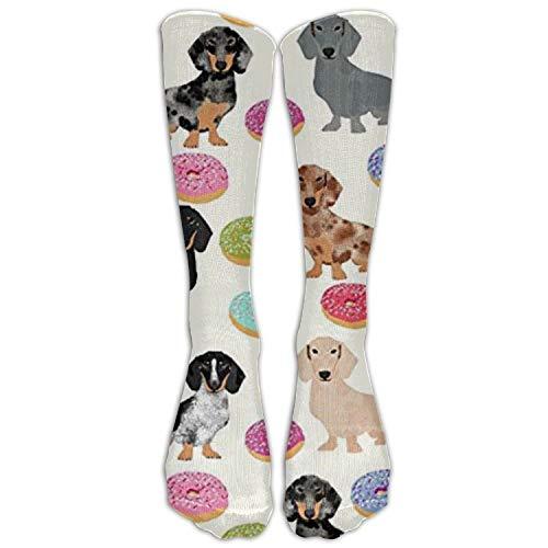 Dot Skimmer (Doxie Dachshunds Donuts Cute Women Graduated Compression Knee High Socks Fun Cool Casual Dress Socks for Men&Women 19.68 in/50 cm)
