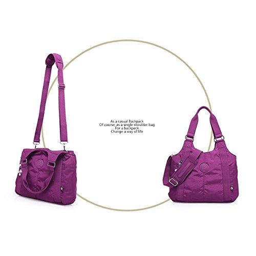 Foino Schultertasche Wasserdicht Umhängetasche Damen Handtasche Mode Kuriertasche Lässige Sporttasche Reisetasche Design Seitentasche Leicht Büchertasche Vintage Taschen für Mädchen Rot 1
