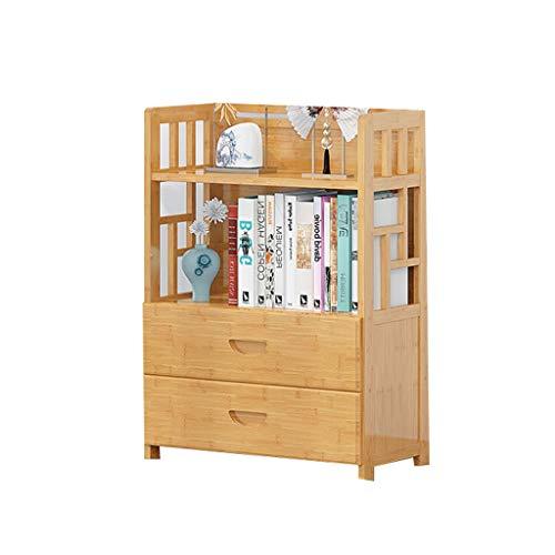 3,4,5-Tier Bambus Bücherregal Badezimmer Regale, Stand Regale, ideal for Flur, Bad, Küche, Wohnzimmer (Color : A, Größe : 80 * 83cm) -