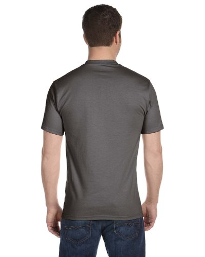Hanes Mens Beefy-T Born to Be Worn 100% Cotton T-Shirt Smoke Grey