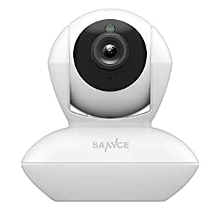 SANNCE 720P IP Caméra Wifi Infrarouge Sécurité de Vidéo Surveillance Sans fil Intérieur 1 MegaPixels Caméra IP Pan&Tilt via APP Vision Nocturne Visualisation à distance Détection de mouvement