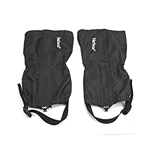 41whSM D eL. SS300  - fenrad® Waterproof Windproof Breathable Gaiters Snow Legging Gaiters Boots for Outdoor Trekking Walking Hiking Climbing Camping Hunting Unisex (Black)