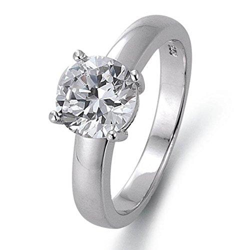 GOOIX 943-03150-54 Damen Ring Sterling-Silber 925 Silber Weiß Zirkonia 17,2 mm Größe 54