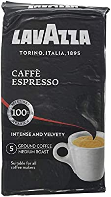 Lavazza Caffe Espresso Ground Coffee 250 g (Pack of 6)