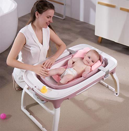 vaschetta bagnetto per doccia,Vasca da bagno per bambini, vasca neonato pieghevole, con supporto per supporto, nuotare, purple