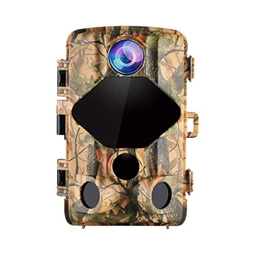 """wansview Wildkamera, 16MP 1080P Jagdkamera 2.4\"""" LCD mit 0,2S Bewegungserkennung Auslösezeit 20M Nachtsicht 120° Weitwinkel Wasserdicht Überwachungskamera für Wildtierjagd und Heimsicherheit T01"""