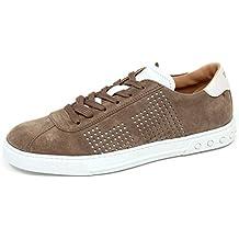 ebcefc3a9a70e5 F0318 Sneaker Uomo Light Brown/White Tod'S Scarpe Suede Shoe Man