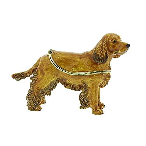 Cocker Spaniel Dog Treasured Trinket Box / Keepsake Ornament
