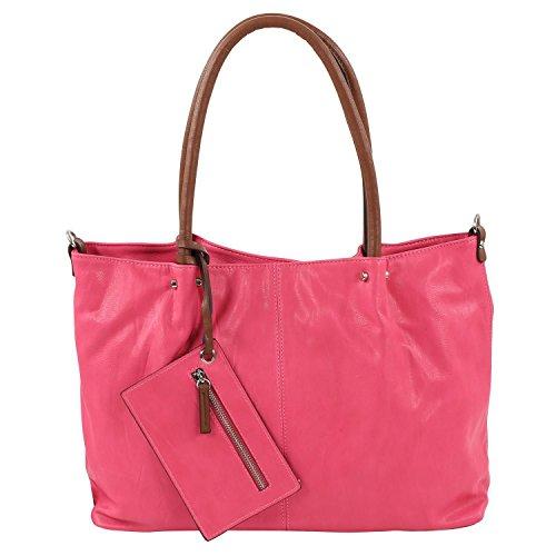 Maestro Surprise Cityshopper Handtasche Bag in Bag 45 cm pink cognac*