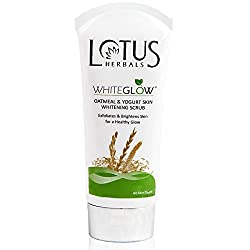 Lotus Herbals Whiteglow Oatmeal and Yogurt Skin Whitening Scrub, 50g