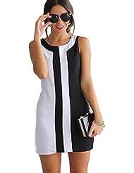 Mini-robe des femmes Yogogo Robe de soirée Sexy Lady Summer manches Casual Cocktail de Soirée