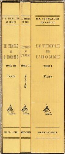 Le Temple de l' Homme - Apet du Sud  Louqsor. En 3 volumes (2 volumes de texte et 1 volume d' illustrations).