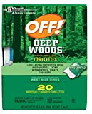 Off! Deep Woods Insect Repellent Wipes 2...