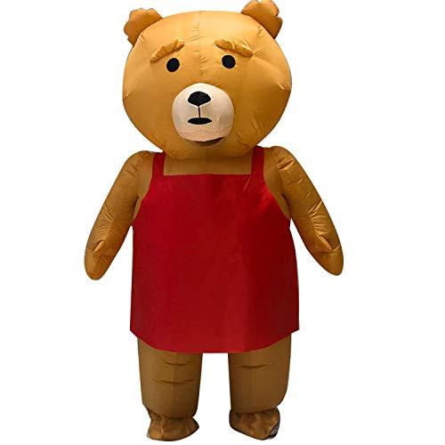 Männer Kostüm Benutzerdefinierte - WYAJZHA Halloween Cosplay Teddybär Inflatables Halloween Weihnachten Spielen Benutzerdefinierte Cartoon Mann Kostüm