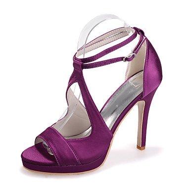 RTRY Scarpe Donna Seta Stiletto Heel Punta Aperta Sandali Matrimoni/Parte &Amp; Sera Scarpe Matrimonio Più Colori Disponibili US8.5 / EU39 / UK6.5 / CN40
