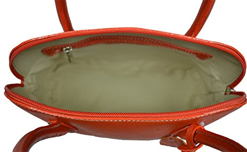 leder Intorna Hand Verde Schöne der in Chiaro praktische Orange 4zqwgExO5