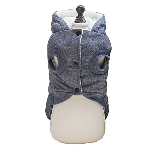 Cappotto Imbottito Con Cappuccio Per Bulldog Francese Colori Blu