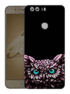 """Humor Gang Night OwlPrinted Designer Mobile Back Cover For """"Huawei Honor 8"""" (3D, Matte Finish, Premium Quality, Protective Snap On Slim Hard Phone Case, Multi Color)"""