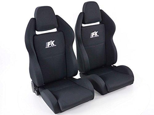 Paire de sièges sport - FK siège de sport siège semi baquet Set Race 5 avec chau