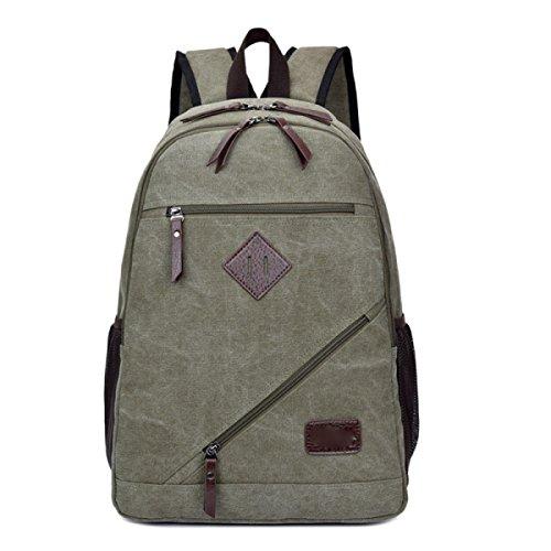Freizeit Reisetasche Schultertasche Student Bag Outdoor Rucksack,ArmyGreen ArmyGreen