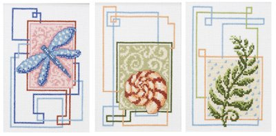 Unbekannt Nature's Trio Counted Cross Stitch Kit by Janlynn -