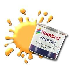Humbrol 14ml No. 1 Tinlet Enamel Paint 24 (Trainer Yellow Matt)