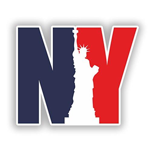 Preisvergleich Produktbild 2x New York City NYC Vinyl Aufkleber Reise Gepäck # 7767 - 10cm/100mm Wide