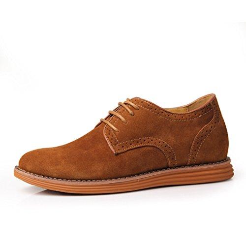 Casuel Chukka chaussure loisir augmentation intérieur haute en cuir véritable de petit taille soulier élevé décontracté tout année homme adulte Kaki