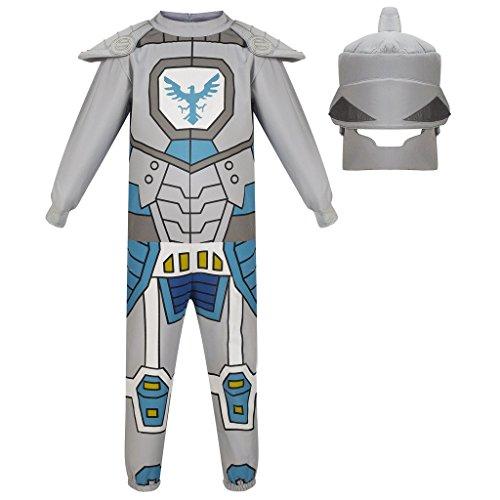 NEXO Knights Anzug mit Helm, Ritter Kostüm für Jungs, Verkleidung zu Karneval-Fasching, Zweiteiler, Geschenk zum Geburtstag