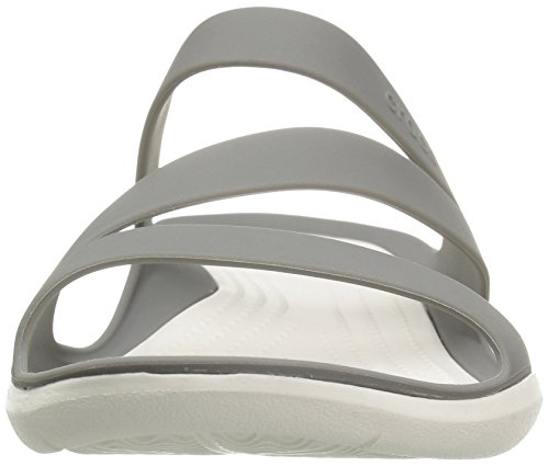 Crocs Swiftwater Damen Casual Sandalen grün - beige