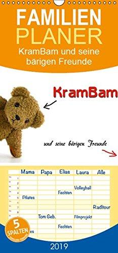 KramBam und seine bärigen Freunde - Familienplaner hoch (Wandkalender 2019 , 21 cm x 45 cm, hoch): Die Teddybären-Bande (Monatskalender, 14 Seiten ) (CALVENDO Spass)