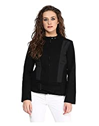 Yepme Piera Full Sleeves Jacket - Black -- YPMJACKT5146_L