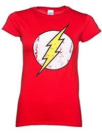 Womens Distressed DC Comics Flash Logo T Shirt