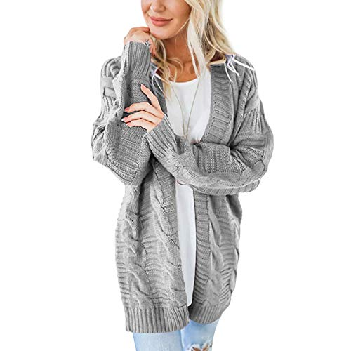 Twist Long Sleeve Cardigan Feminino Loose Sweater Women Winter Plus Size Knitted Cardigan Women's Coats Outerwear Gray M - Cashmere Deep V-neck Sweater