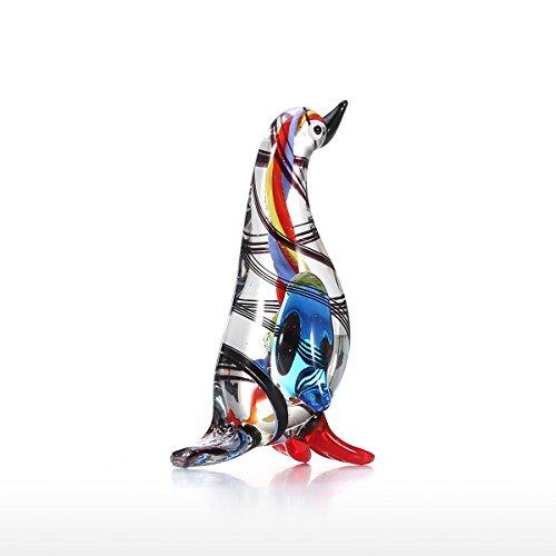 Figuren Glas Pinguin (Tooarts Glasskulptur Dekofigur Tier Skulptur aus Glas Handarbeit Kleiner Pinguin)