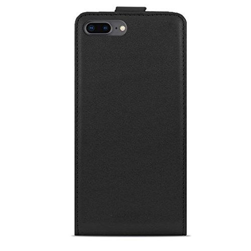 Cover iphone 8 PLUS , Lincivius® [Flip Shield], Custodia Iphone 8 PLUS 5.5 Flip Wallet Rosso Protettiva Designi Originale Accessori Elegante Nero