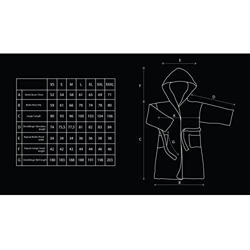 DecoKing Bademantel XS - XXXL Kurz Damen Herren Unisex mit Kapuze Morgenmantel Mikrofaser Steppung Weich Leicht Kuschelig Microfaser Fleece Sleepyhead