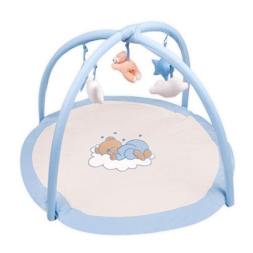 Krabbeldecke, Erlebnisdecke, Spieldecke von Sleeping Bear in 3 Farben, Farbe:Blau