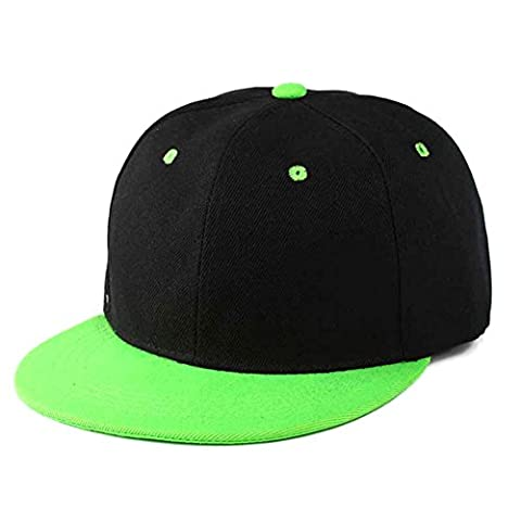 Balai Casquette de Baseball Snapback Bonnet Hiphop Cap,Cotton Adjustable Flat Peaked Baseball Bill Hat
